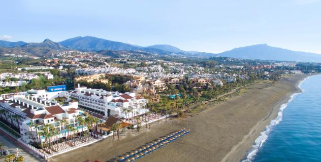 The resort overlooks the Costa del Sol's quiet El Saladillo beach