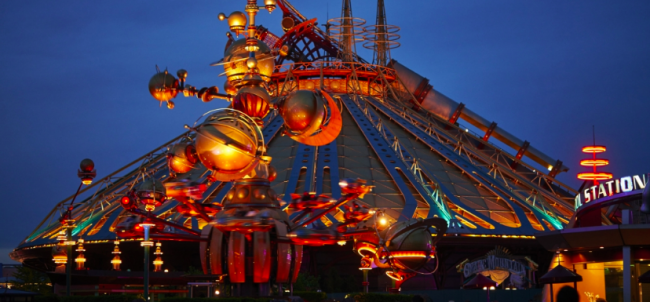 Star Wars Hyperspace Mountain in Discoveryland. Image: Disney.