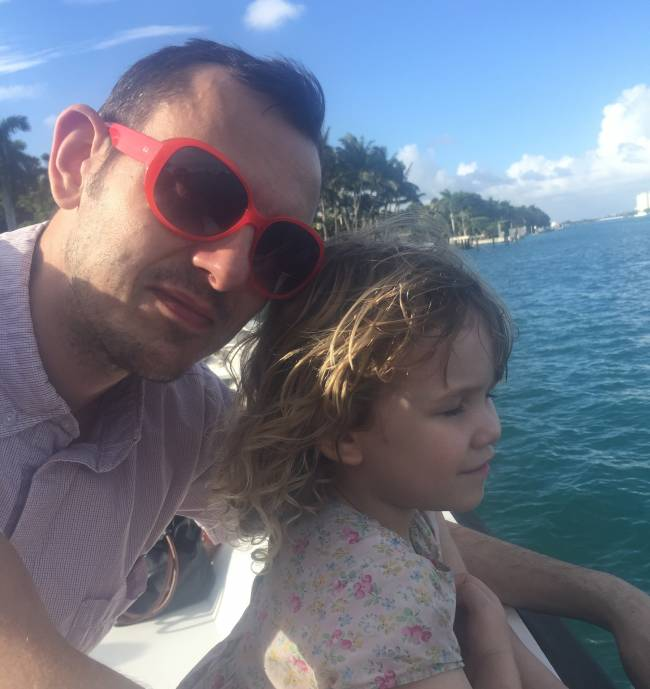 Simon with Dino Diva, Mary
