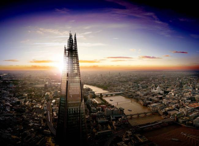 The View from The Shard made it into kids' top 30 fun things to do. | Image: View from The Shard.