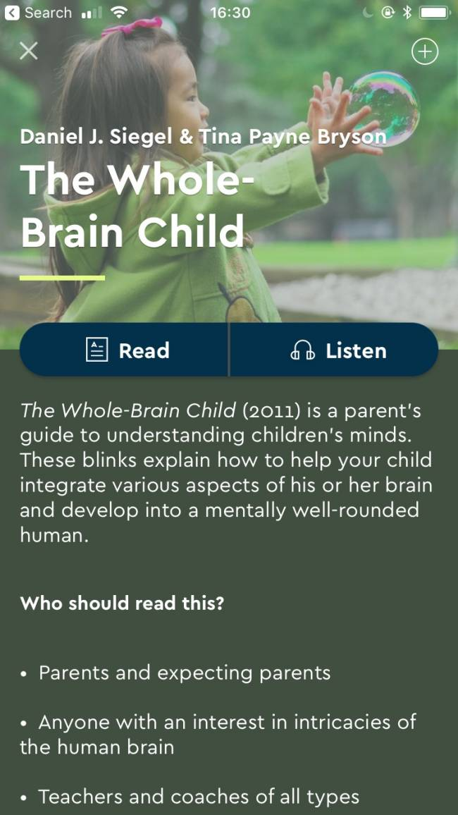 The Whole Brain Child.