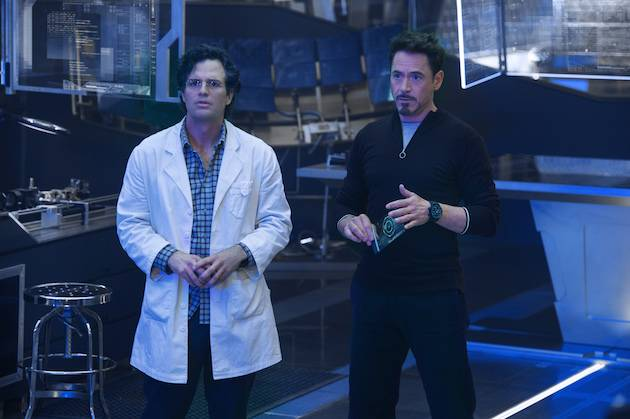 Tony Stark and Bruce Banner ponder how to save the world I Image: Disney