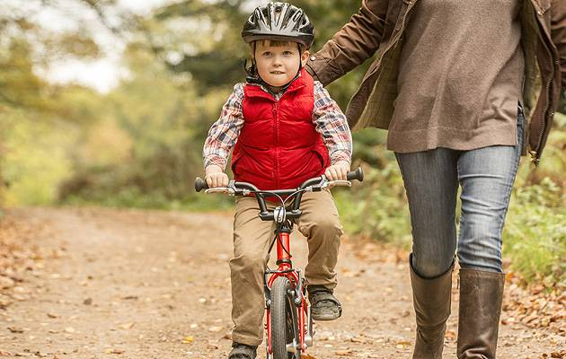 On your bike: Encouragement and balance bikes are key to getting your little one riding | Image: Islabikes.co.uk