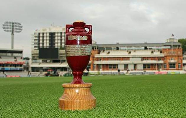 Perfect setting: The 11cm Ashes urn at Lord's, where England host Australia in the second Test | Image: MCC