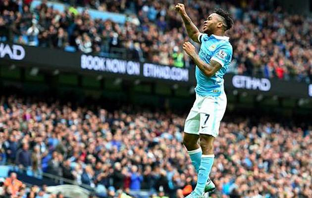 Maturing quickly: Raheem Sterling netted a hat-trick against Newcastle last weekend and has found his groove since signing from Liverpool | Image: @MCFC on Twitter