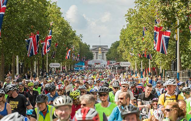 Peddle power: Tens of thousands of RideLondon revellers enjoy the 2014 FreeCycle event | Image: Prudential RideLondon