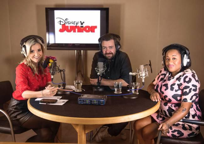 Disney Junior Parenting Hacks Podcast in the Studio